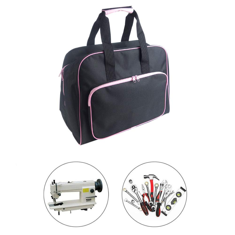 Sewing Machine Carrying Case Tote Bag,Universal Nylon Carry Bag Universal Padded Storage Cover Carrying Case with Pockets and Handles Blue/_1