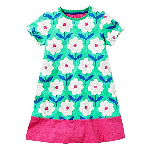 Perfectme Children Clothing Baby Girls Dress 2018 Brand Summer Floral Dresses Vestidos Girl Princess Dress Kids -