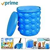 Ice Bucket,Large Silicone Ice Bucket & Ice Mold...
