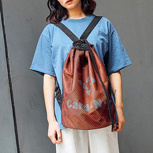 Cloth Student Shoulder Bag EUzeo Couple School Bag Bag Oxford Backpack Orange Drawstring tqxwq5OrYX