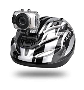 Sound Around GDV123SL Gear Pro HD Sport Action Camera, 720p Wide-Angle Camcorder with 2.0 Touch Screen SD Card Slot, USB Plug And Mic (Silver)