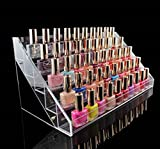 1-Pcs Perfect Popular Hots Nails Polish Organizers Cube Box Cosmetic Stand Fashion Art Grids Color Transparent 5 Tier Style #08