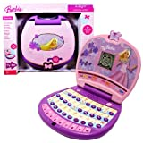 Oregon Scientific Year 2007 Barbie Series Learning Laptop : B-BRIGHT with 20 Learning Activities (10 English and 10 Spanish) Plus Games and Activities that Teaches Letter, Vocabulary, Spelling, Numbers and Counting, Music, Shapes, Memory and Logic