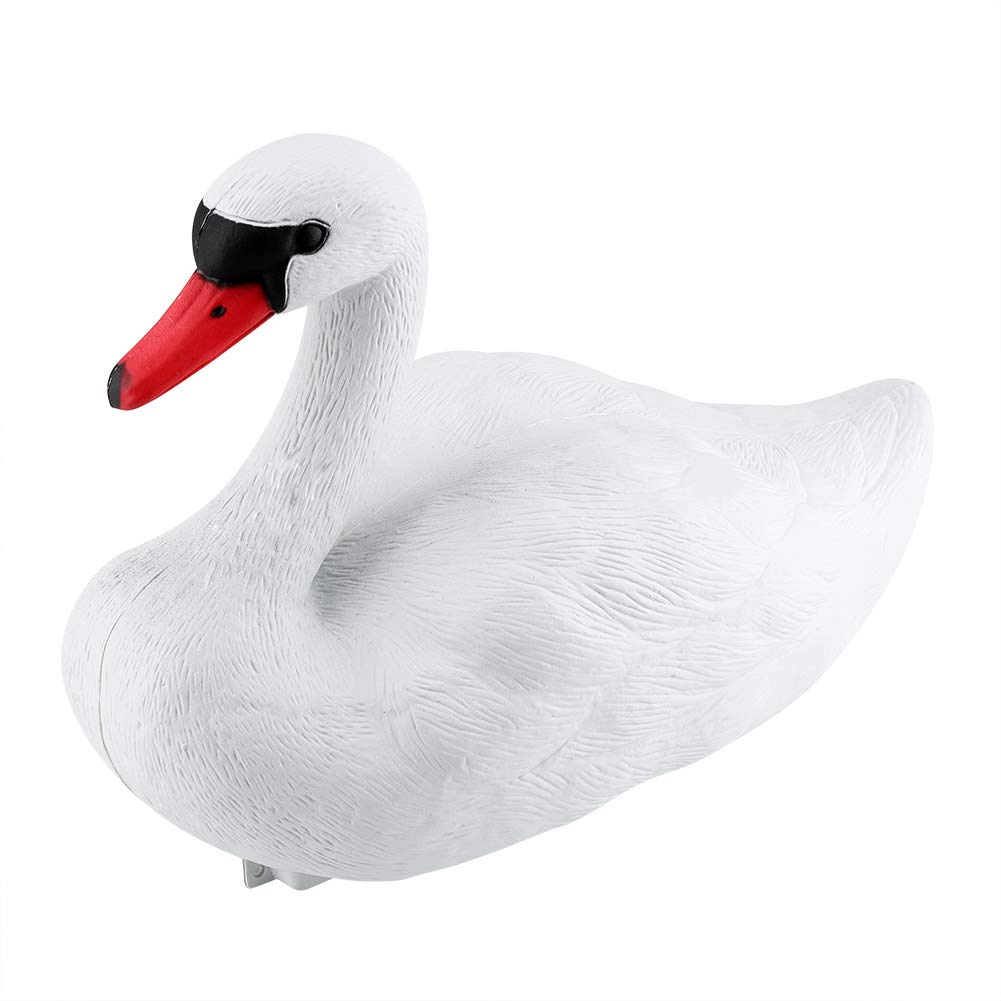 Delaman Floating Swan Simulated Exquisite White Swan, Decorative Tool, Hunting Baits by Delaman