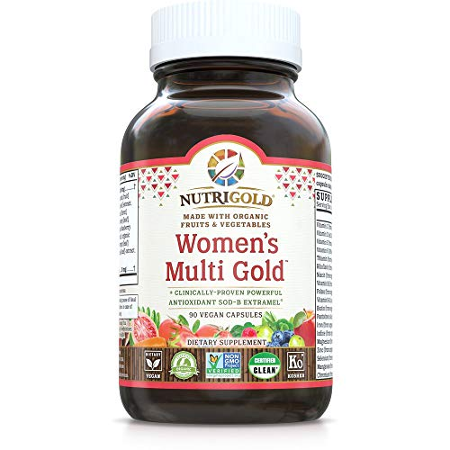 Nutrigold Organic Plant-Based Whole Food Multivitamin for Women