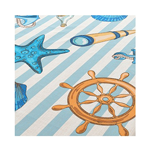 Jili Online Tablecloth Table Cover Home Nautical Wedding Party Mediterranean Style Ornament - Rudder, 100140cm