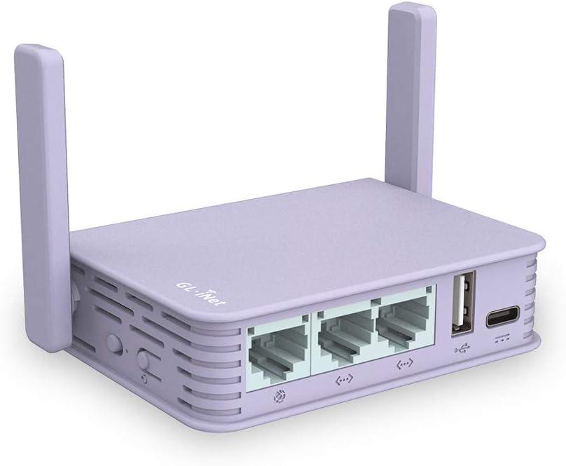 MicroSD Storage Support Flash 16MB Wireless Edge Computing Gigabit VPN Gateway DDR4 1GB 2.4G Wi-Fi Brume-W GL.iNet GL-MV1000W EMMC 8GB External 5G AC Wi-Fi Dongle Supported