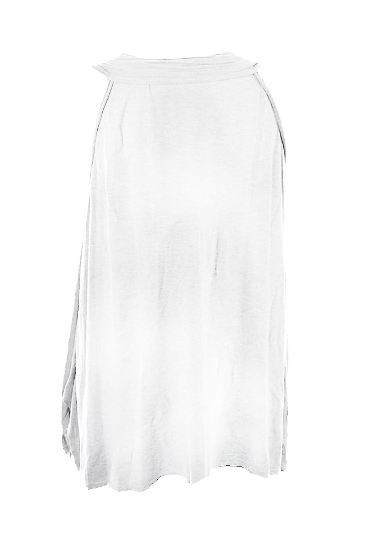 Studio M White Sleeveless Textured Neck Tank Top M