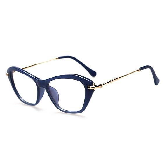Hombres Mujeres Gafas de Ojo de Gato - Gafas de Lentes Transparentes Gafas - Gafas de Moda - hibote # 122901 5RJ8uo