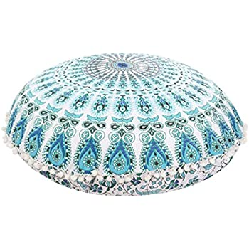 Exceptional This Item Franterd Floor Pillows, Round Pillowcases, Indian Floor Cushions, Decorative  Pillows, Outdoor Cushion Cover, Boho Pillow (B)