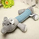Funny Dog Puppy Sound Chew Toys Plush Pet Squeaky Cat Dog Play Toys Elephant by Aroundstore