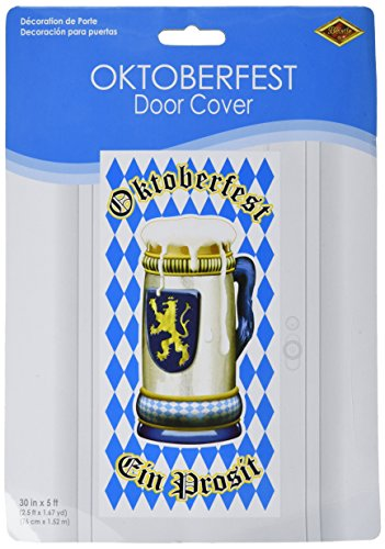 Beistle 57083 Oktoberfest Door Cover, 30 by 5-Feet ()