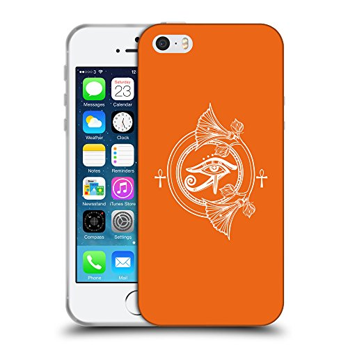 GoGoMobile Coque de Protection TPU Silicone Case pour // Q09840632 Religion 24 sécurité Orange // Apple iPhone 5 5S 5G SE