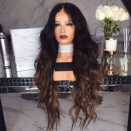 RedBrowm Girl Gradient Natural Brown Party Wig Long Full Curly Hair Fashion Synthetic Wig for $<!--$10.17-->