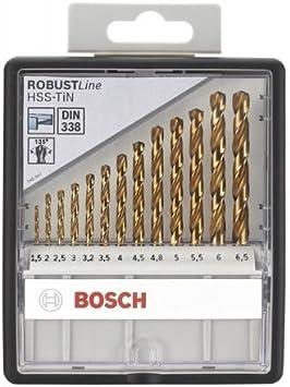 Bosch 2 607 010 539 - Set de 13 brocas para metal Robust Line HSS ...