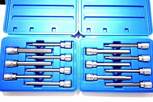 (14 Pc Extra Long Hex Bit Sockets Allen Wrench Mm+sae)