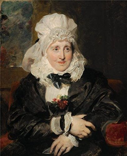 Oil Painting 'Thomas Lawrence,Mrs.William Lock Of Norbury,1829' Printing On High Quality Polyster Canvas , 12x15 Inch / 30x37 Cm ,the Best Study Decor And Home Decor And Gifts Is This Reproductions Art Decorative Canvas Prints