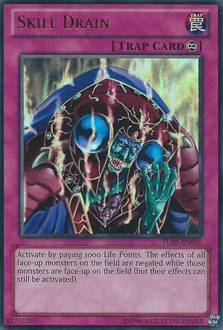 Yu-Gi-Oh! - Skill Drain (TU08-EN001) - Turbo Pack 8 - Unlimited Edition - Ultra Rare
