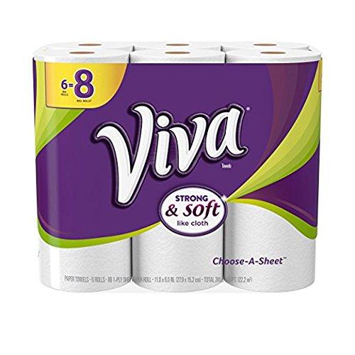 Viva Choose-A-Sheet* Paper Towels, 24 Big Plus Rolls, for Household Use, 6=8 Rolls, 4 pack
