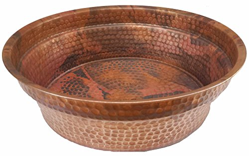 Egypt gift shops Copper Foot Rub Soak Wash Spa Styling Salon Massage Pedicure Bowls Healthy Wash Pot Garden Planter Water Storage Skin Dehydration by Egypt Gift Shops