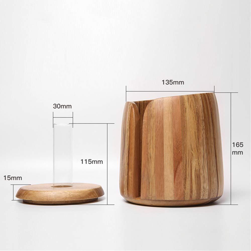 Creative vase Style Bamboo Bathroom Toilet Boxes Modern Look Perfect Tissue Box Dispenser Wooden Napkin Cover Paper Storage Holder case Organizer