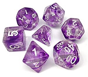 Polyhedral Dice Set Gaming Dice for Dungeons and Dragons DND RPG MTG Table Dice