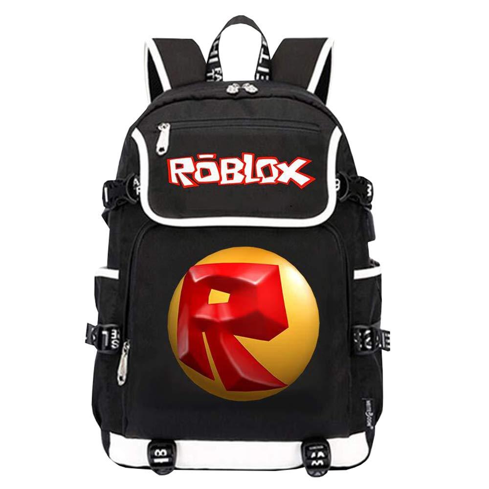 Roblox Mochila Casual Mochila Popular Impreso Mochila Casual Mochila para Deportes al Aire Libre Mochila Escolar Unisex (Color : Black01, Size : 33 X 15 X 44cm)