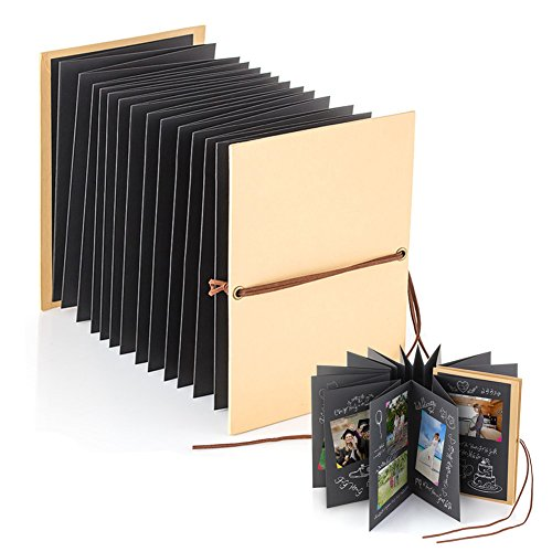 Scrapbook, 6 x 8 inch 54 Pages Photo Albums, DIY Kraft Paper for Wedding Birthday Anniversary Christmas Graduation Valentines Day Gifts - Accordion Photo