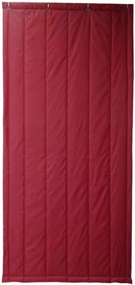 WUFENG-Cortina de puerta Espesar Aislamiento Acústico Aislamiento Resistente Al Frio Preservativo, 4 Colores Múltiples Tamaños Personalizable (Color : D, Tamaño : 90x210cm)