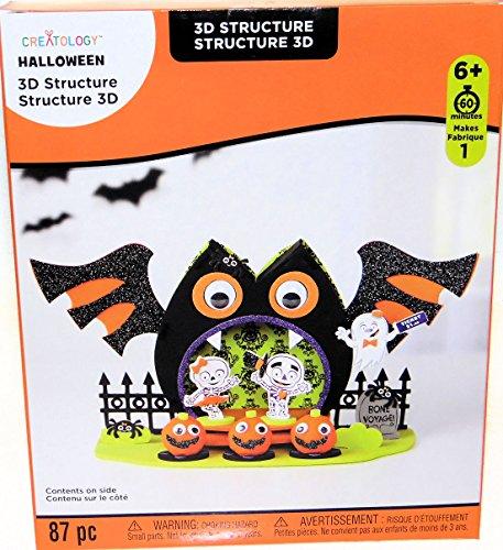 Halloween Bat, Skeletons, Jack o Lanterns and Ghost 3D Foam Kit Party Art Project (Kit Foam 3d)