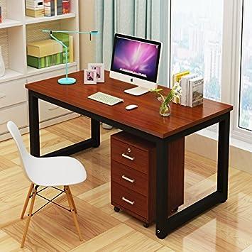 Mesa de Ordenador, Resistente Oficina Escritorio Estudio Escritorio ...