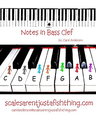 Bass Clef Piano or Cello Note Locator (Sight-reading Music)