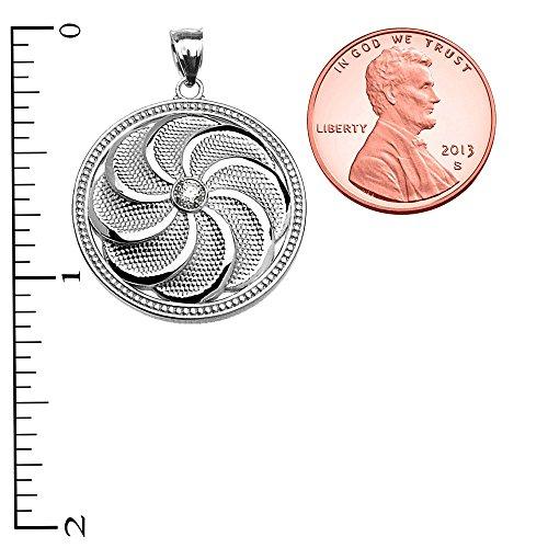 Sterling Silver Shield arménien Eternity Pendentif Oxyde de Zirconium