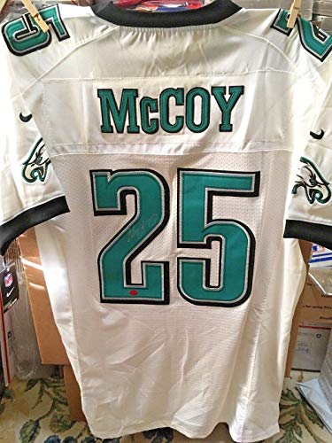 730221c08e5 where can i buy lesean mccoy philadelphia eagles autographed nike on field  white jersey size 48