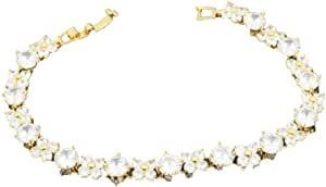 Cubic Zirconia Gold Bracelet