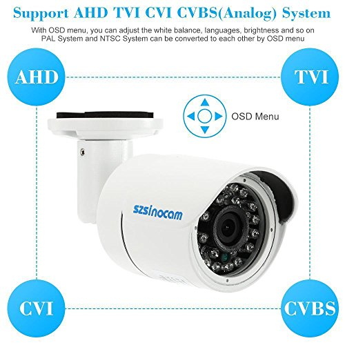 Lifter Competition Cams (NTSC AHD CVI TVI 1080P Waterproof Outdoor CCTV Security Cam IR Night View P1F3)