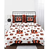 NFL Cincinnati Bengals Logo Football Full Bed Sheet Set