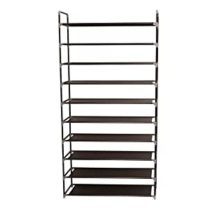 23. Newdora 10 Tiers Shoe Rack Fabric Shoe Tower Organizer Super Space Saving