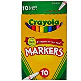 Crayola Classic Fine Line Markers,10 Count ( Case of 24 )