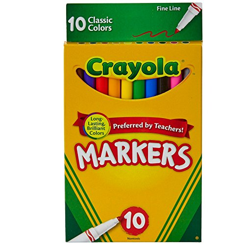 - Crayola Classic Fine Line Markers,10 Count ( Case of 24 )