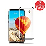 [3-Pack] Samsung Galaxy S8 Screen Protector , [No Bubble][Case-Friendly][3D coverage] PET HD Screen Protector Film for Samsung Galaxy S8 Black