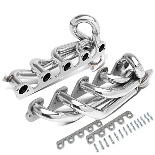 DNA Motoring HDS-DR96-80L-SHORTY Shorty Exhaust Header Manifold[96-02 Dodge Ram 8.0L V10] ()