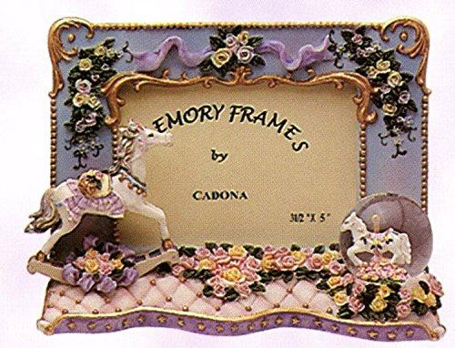 Decorative Carousel Picture Frame with mini water globe, ...