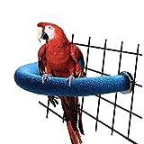 RYPET Parrot Perch Rough-surfaced - Quartz Sands Bird Cage Perches for Medium to Large Bird, U Shape Large