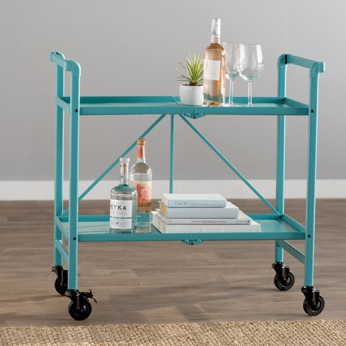Bennett Bar Cart, Teal by Breakwater Bay by Breakwater Bay
