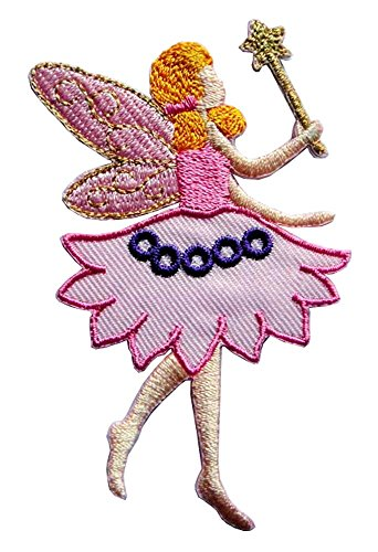 Cute Pretty Fairy Angel Embroidered Iron on (Fairy Iron)