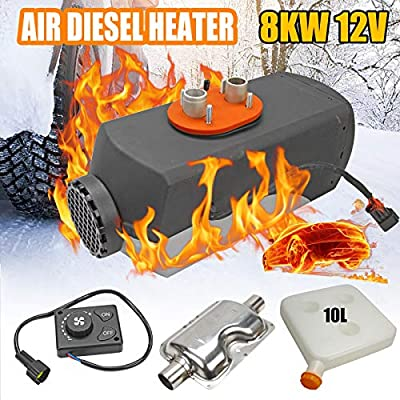 Superfastracing 8KW 12V Knob Switch Air diesel Fuel Heater For Motor-home Truck Bus Car 8000W: Automotive