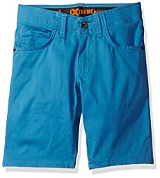 Lee Big Boys\' Dungarees Extreme Motion 5 Pocket Short, Scuba Blue, 8 Regular