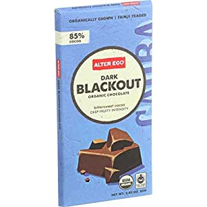 Alter Eco Americas Organic Chocolate Bar - Dark Blackout - 2.82 oz Bars - Pack of 12