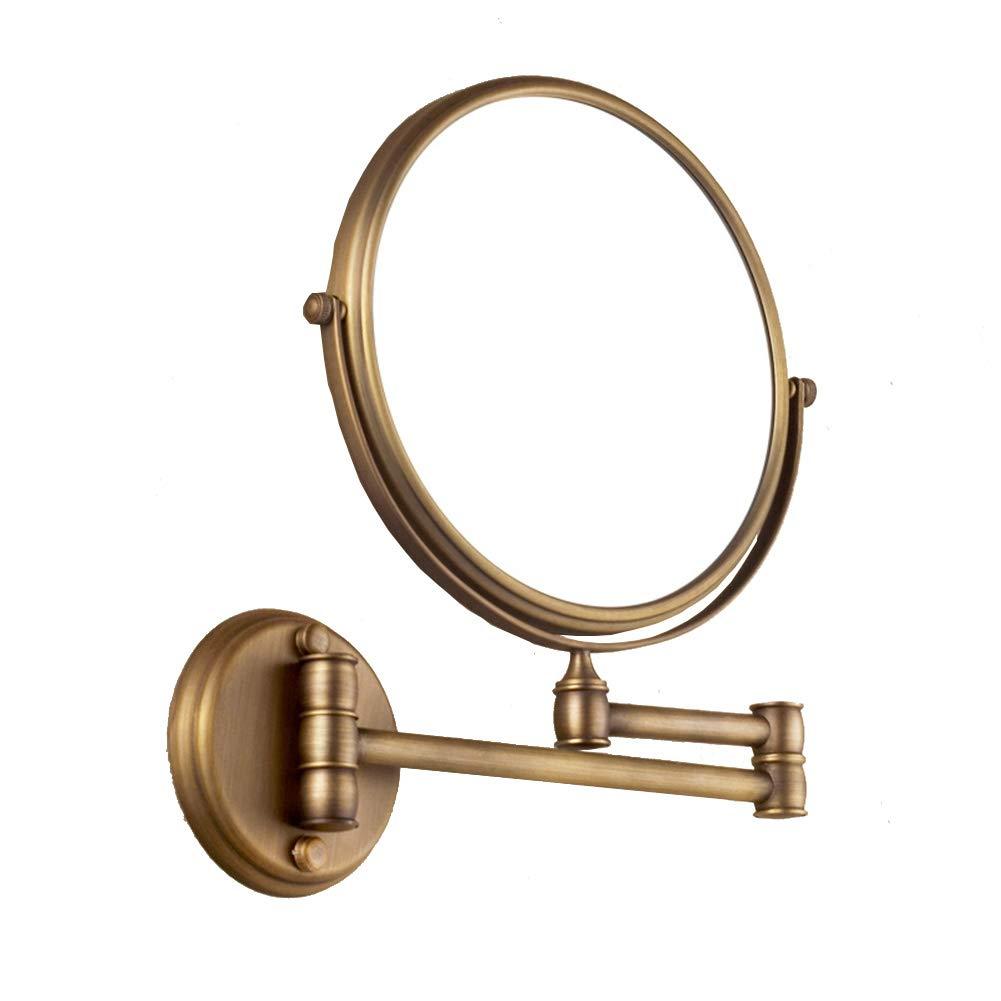 koyiscloth 8 inch 5X Magnification Mirror Retro Bathroom Gadget Adjustable Fit Antique Brass Bathroom Accessories Swivel Vanity Mirror by koyiscloth